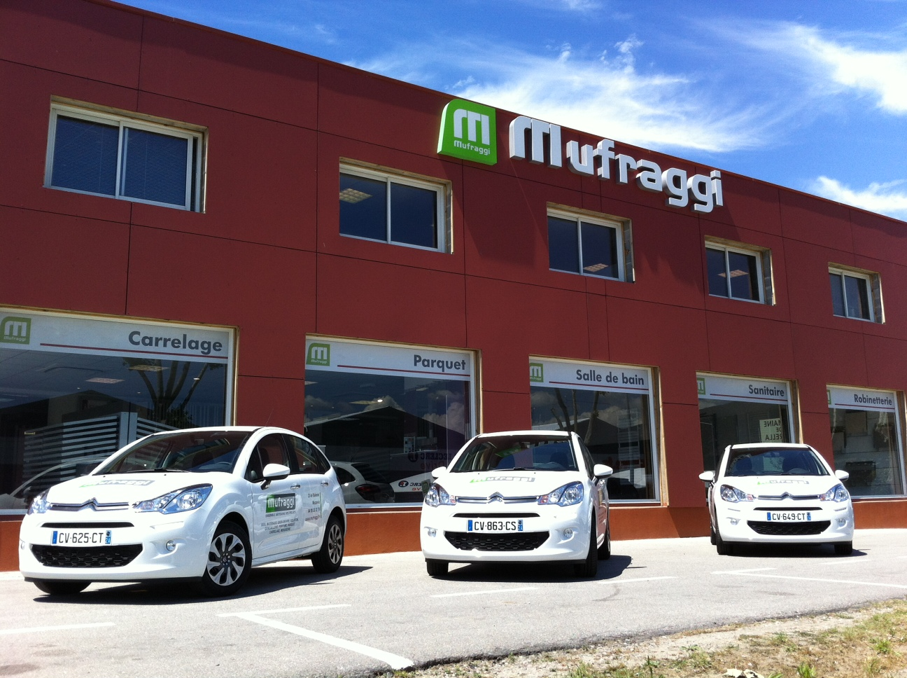 Le magasin de Mufraggi Matériaux à Ajaccio, ZI de Baléone